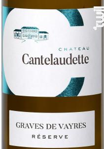 Blanc Réserve - Château  Cantelaudette - 2020 - Blanc