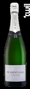 Le Blanc de Blancs Premier Cru - Champagne de Saint-Gall - No vintage - Effervescent
