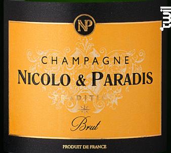 Tradition Brut - Champagne Nicolo et Paradis - No vintage - Effervescent