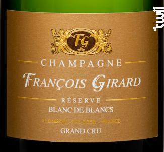 Réserve Blanc de Blancs Grand Cru - Champagne François Girard - No vintage - Effervescent