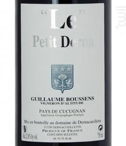 Le Petit Derna - Domaine de Dernacueillette - 2016 - Rouge