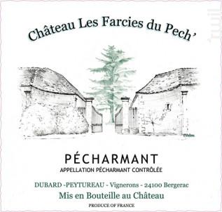 Pécharmant - Château les Farcies Du Pech - 2018 - Rouge
