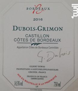Dubois Grimon - Château Grimon - 2016 - Rouge