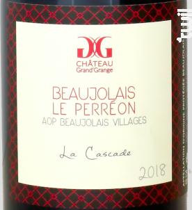 La Cascade - Château Grand'Grange - 2018 - Rouge