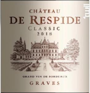 Classic Rouge - Château de Respide - 2018 - Rouge