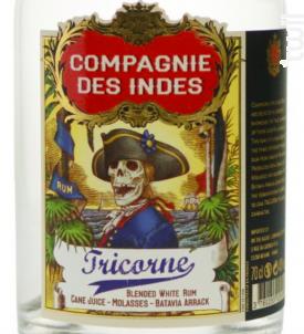 Tricorne - Rhums Compagnie des Indes - No vintage - Blanc