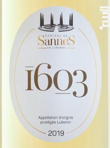 1603 Blanc - Château de Sannes - 2019 - Blanc