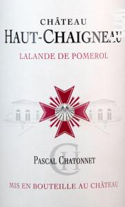 Château Haut-Chaigneau - Vignobles Chatonnet - 2014 - Rouge