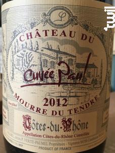 Cuvée Paul - Château du Mourre du Tendre - 2016 - Rouge