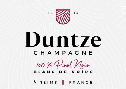 100% Pinot Noir - Brut - Champagne Duntze - No vintage - Effervescent