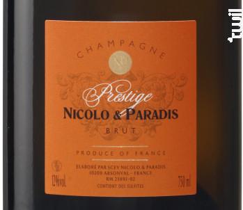 Champagne Prestige - Champagne Nicolo et Paradis - No vintage - Effervescent