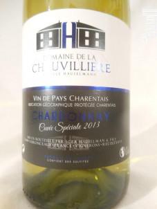 Chardonnay Cuvée Spéciale - Domaine De La Chauvillière - 2013 - Blanc