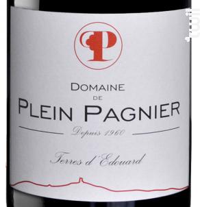 Terres d'Edouard - Domaine Plein Pagnier - 2016 - Rouge