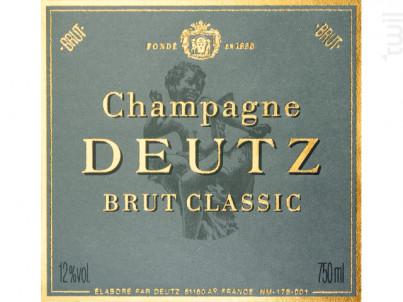 Brut Classic - Champagne Deutz - No vintage - Effervescent