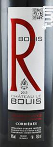 Cuvée R - Château Le Bouïs - 2015 - Rouge
