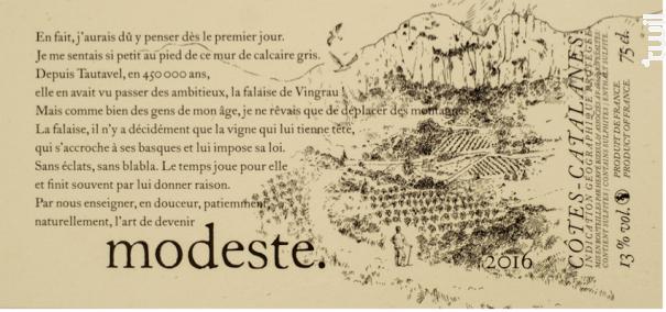 Modeste - Hervé Bizeul - Le Clos des Fées - 2017 - Rouge